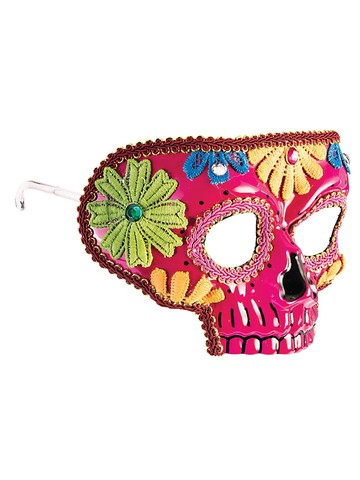 Pink Day of the Dead Mask for Adults