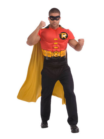 Adult Robin Muscle Chest DC Comics Costume