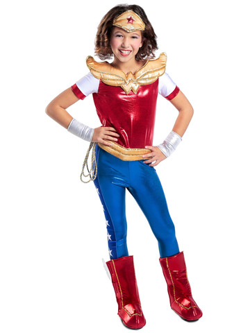 Girls Premium DC Super Hero Wonder Woman Costume