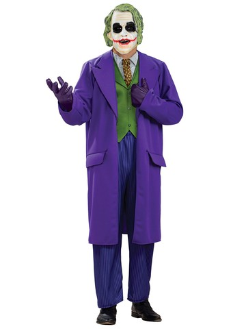 Fast Ship Suicide Squad The Joker Costume Deluxe Adult Leto Plus Size XL