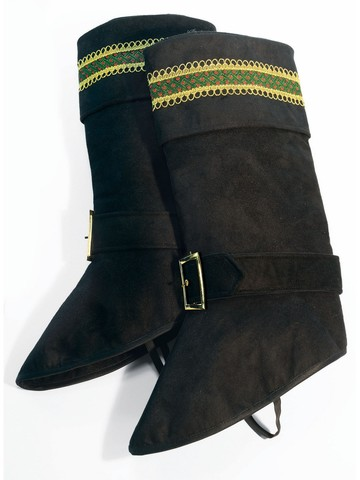 Deluxe Santa Boot Tops - Black