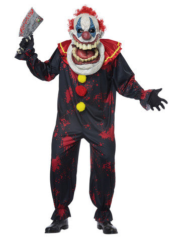 Die Laughing Big Mouth Clown Costume for Adults
