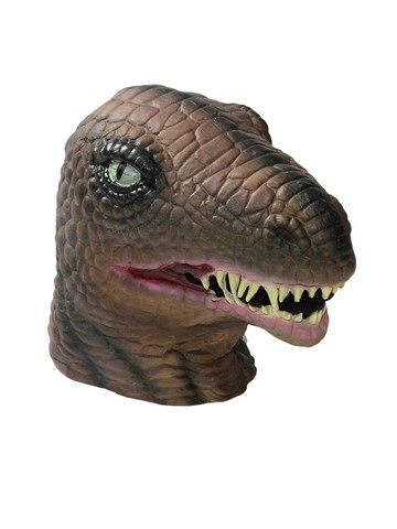Full-Size Latex Dinosaur Head Mask