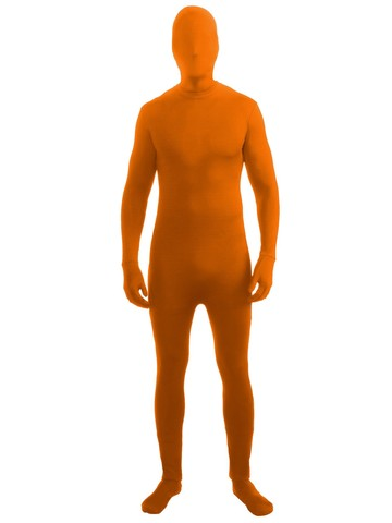 Orange Skin Suit Costume for Adults