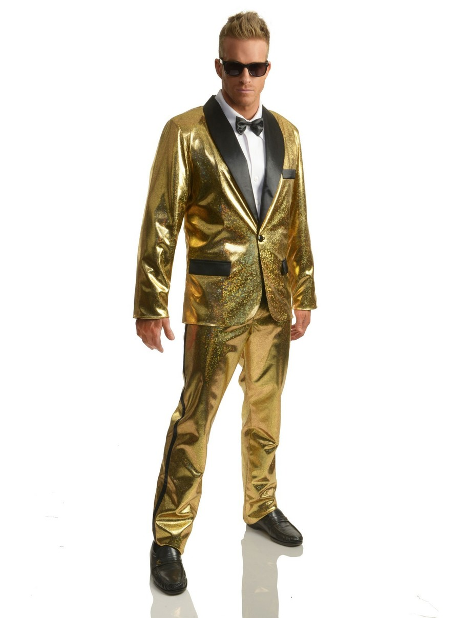 View larger image of Disco Ball Tuxedo Set with Pants for Adults