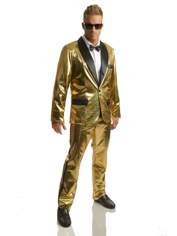 Disco Ball Tuxedo Set w/Pants - Gold