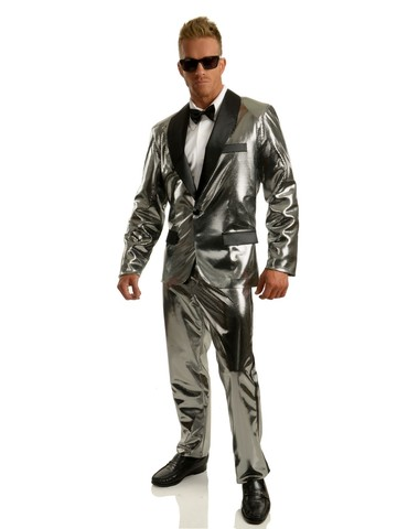 Silver Disco Ball Set with Pants