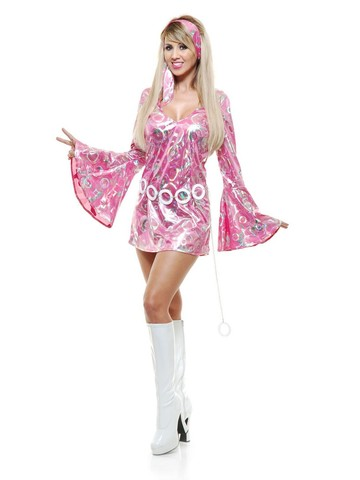 Women's Disco Doll Dress and Headband