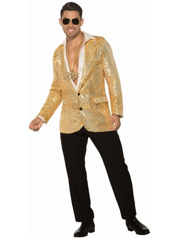 Sequin Disco Gold Blazer