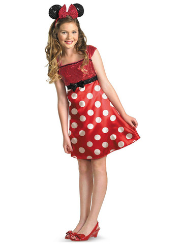 Disney Mickey Mouse Clubhouse Red Minnie Mouse Child / Tween Costume