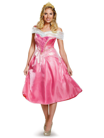 Disney Princess Womens Deluxe Aurora Costume