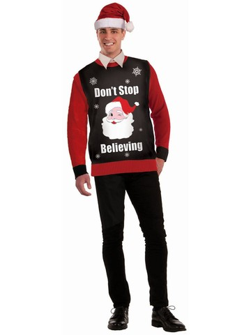 """Don't Stop Believing"" Christmas Sweater"