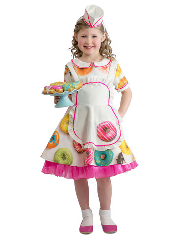 Kids Donut Waitress Costume