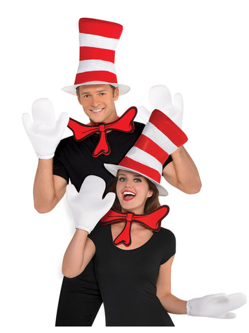 Dr. Seuss Adult Cat in the Hat Accessory Costume Kit