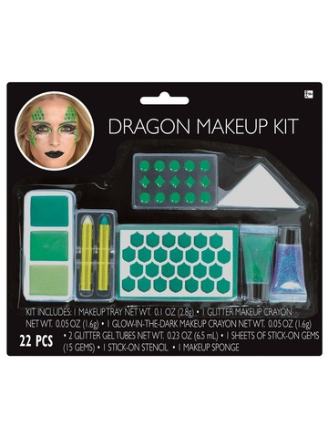 Mean Green Dragon Make-up Set
