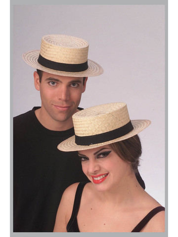 Straw Sailor Hat Economy Costume Accessory