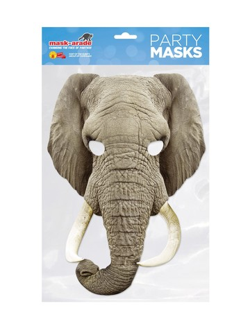 Elephant Facemask Costume Accessory