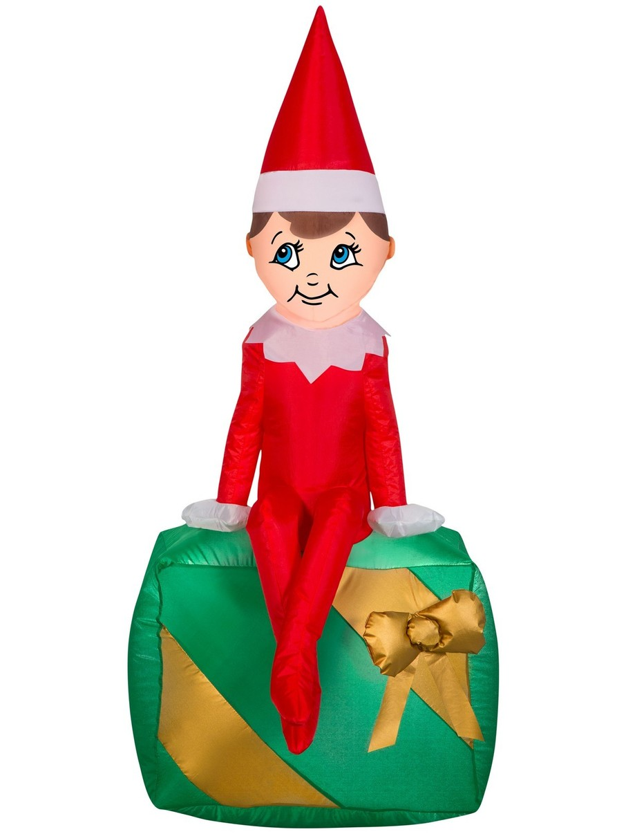 View larger image of Inflatable Airblown Elf on the Shelf Christmas Prop