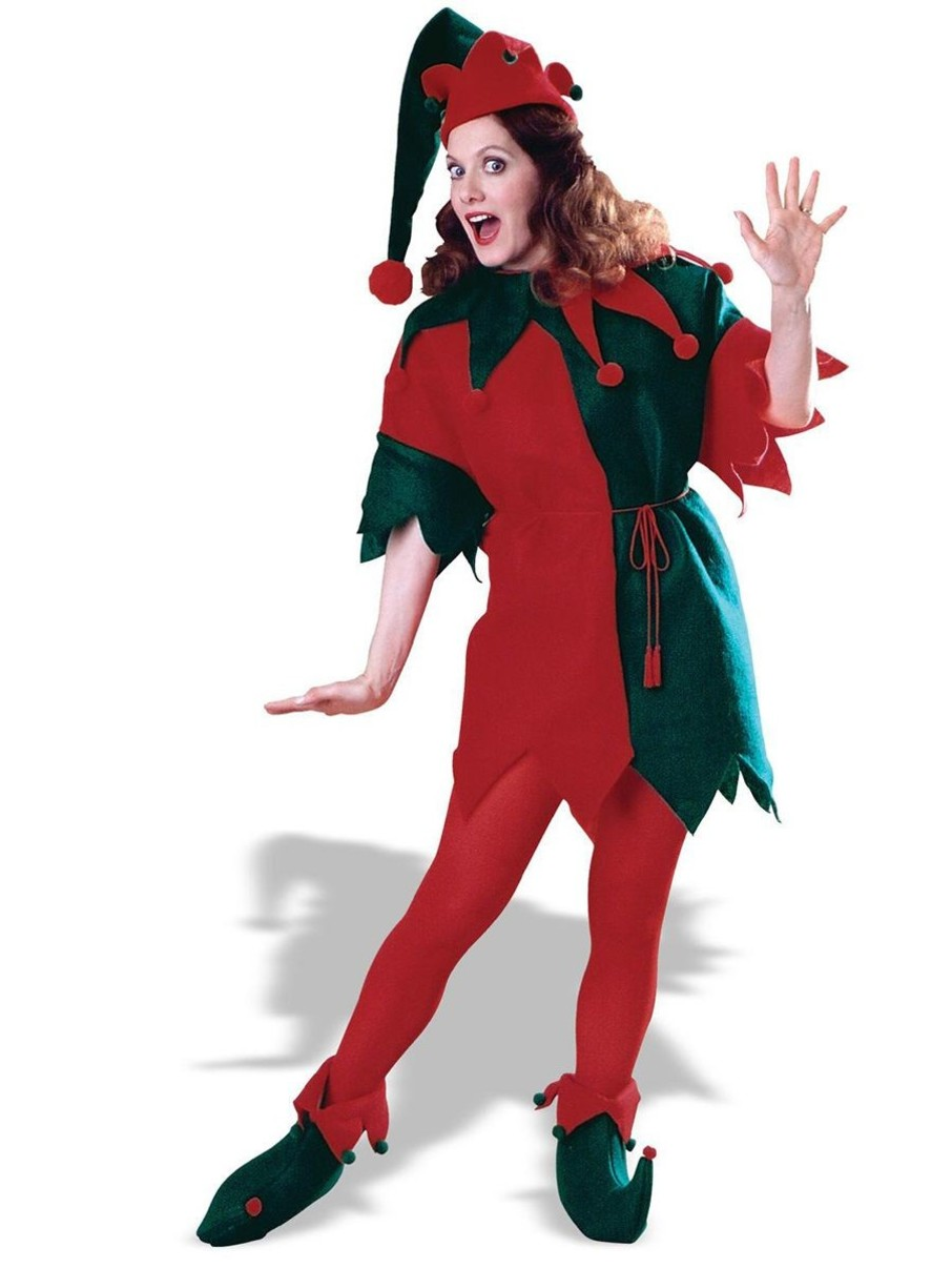 View larger image of Elf Tunic Set Red Green Costume