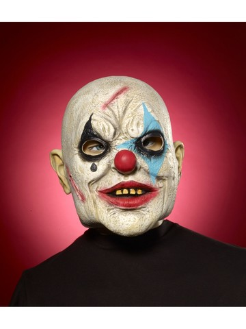 Bald Evil Clown Mask