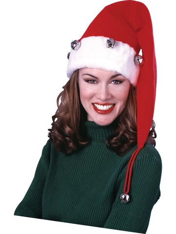 Extra Long Santa Hat with Bells