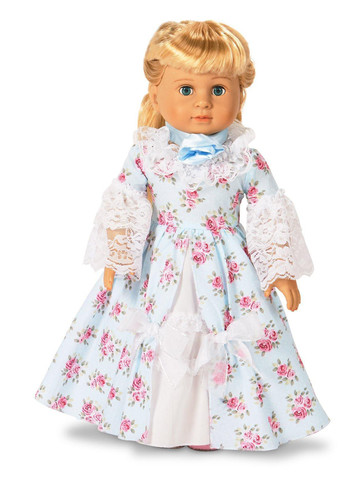 "Fancy Early American 18"" Doll Dress"