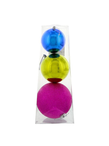 Fashion Bright Large Assorted Ball Ornament Set (3)