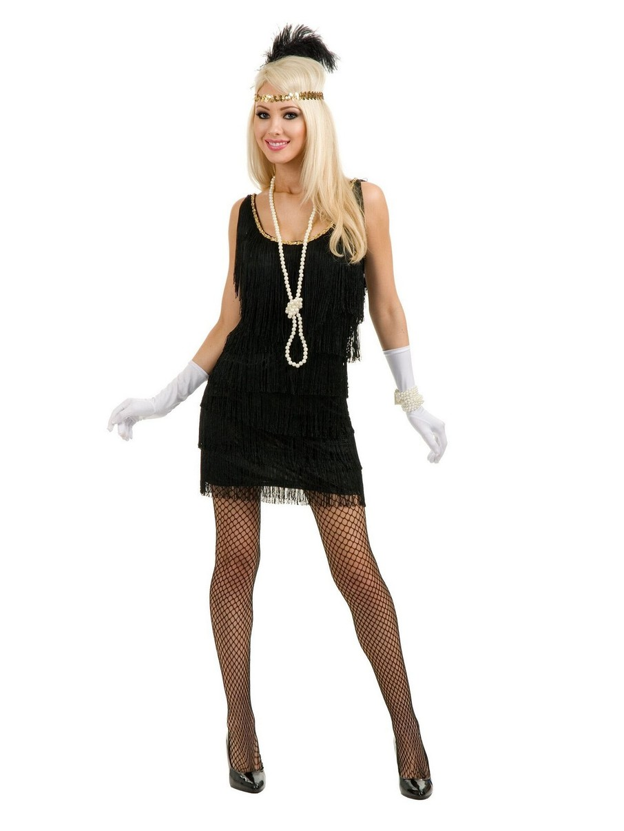 View larger image of Black Fashion Flapper Adult Costume