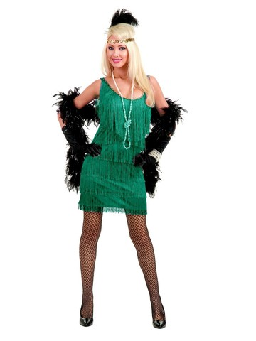 Jade Fashion Flapper Costume for Adults