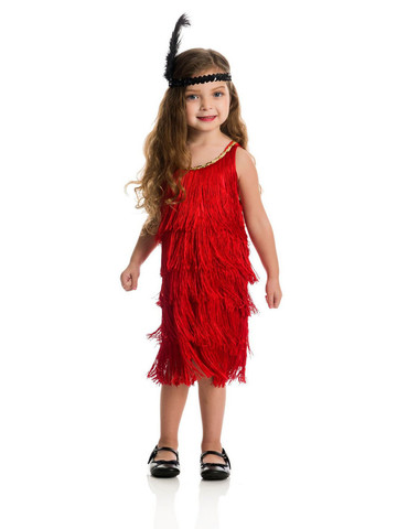 Red Fashion Flapper Costume for Kids