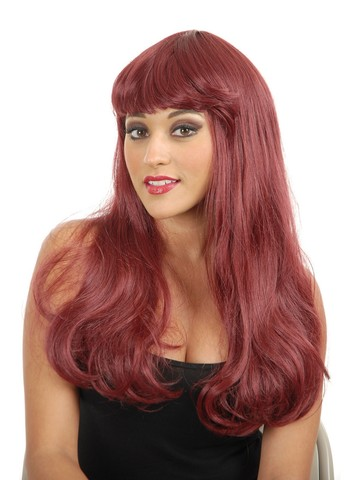 Fashion Runway Wig with Bangs