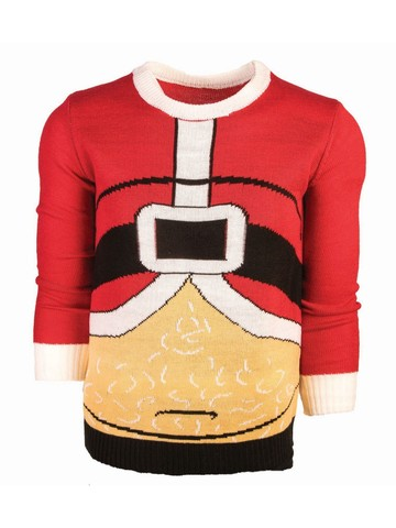 Too Many Cookies Christmas Santa Sweater