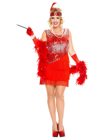 Fearless Flapper - Womens Sexy Plus Size Costume