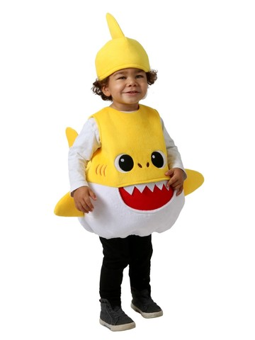 Kid's Yellow Baby Shark Feed Me Costume