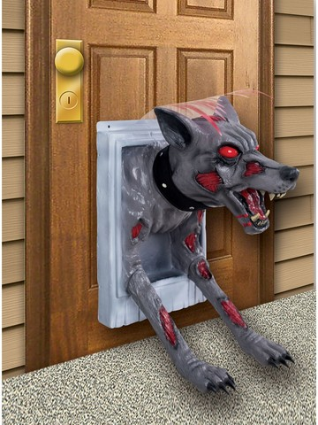 Feral Doggy Door Prop Decoration