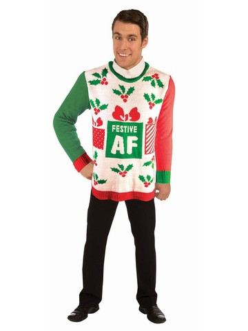 """Festive AF"" Christmas Sweater Costume"