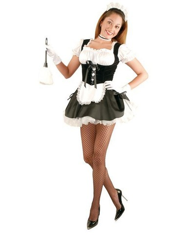 Womens Fi Fi French Maid Costume W/Petticoat