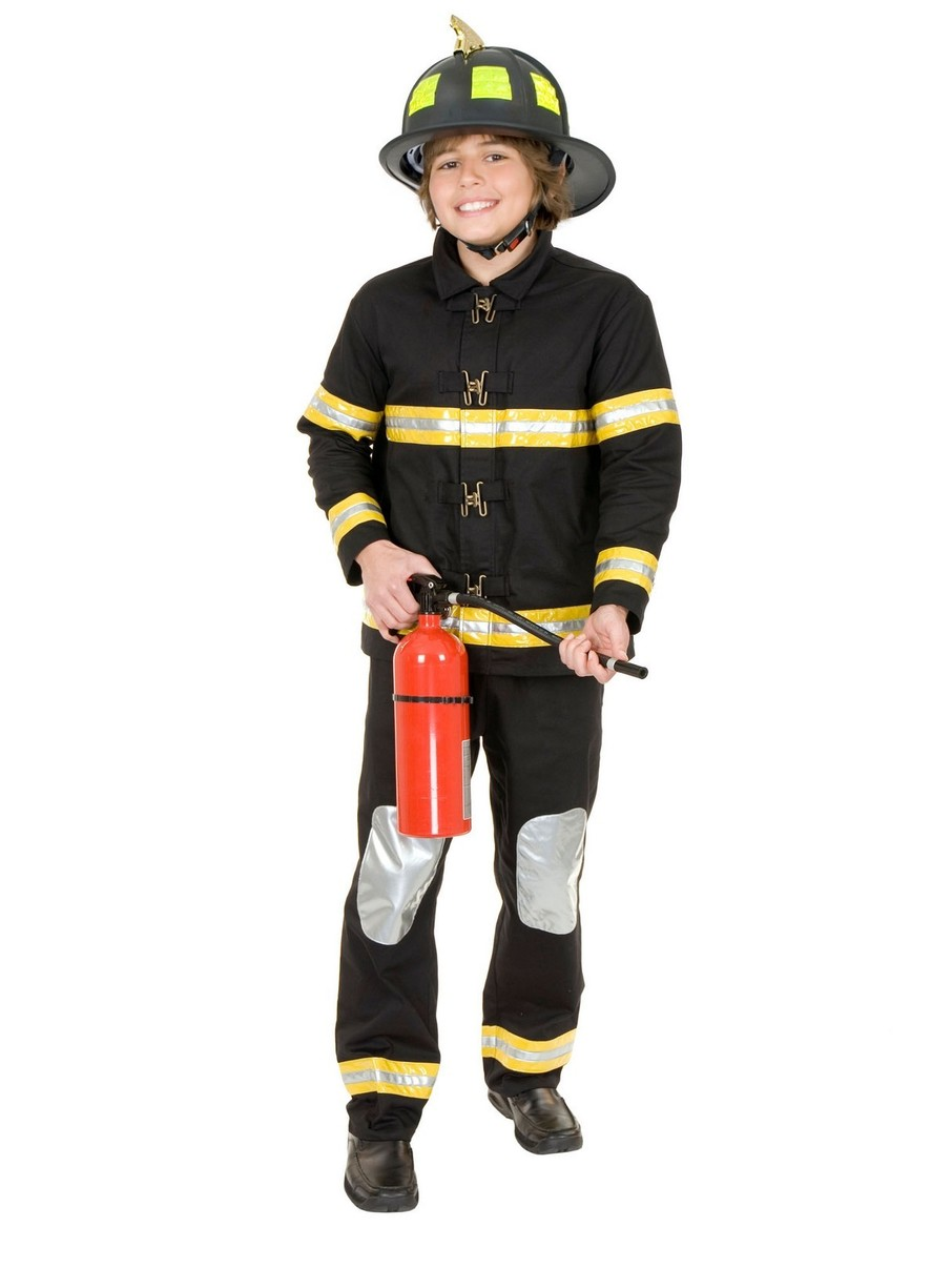 View larger image of Child's Black Junior Firefighter Costume