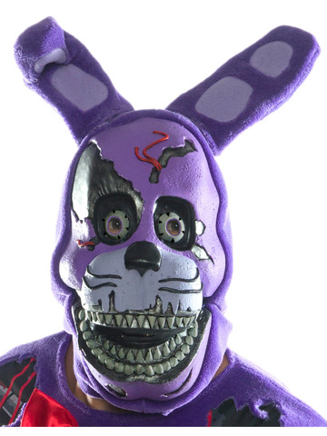 image about Five Nights at Freddy's Printable Mask named Grownup 5 Evenings at Freddys - Nightmare Bonnie PVC 3/4 Mask