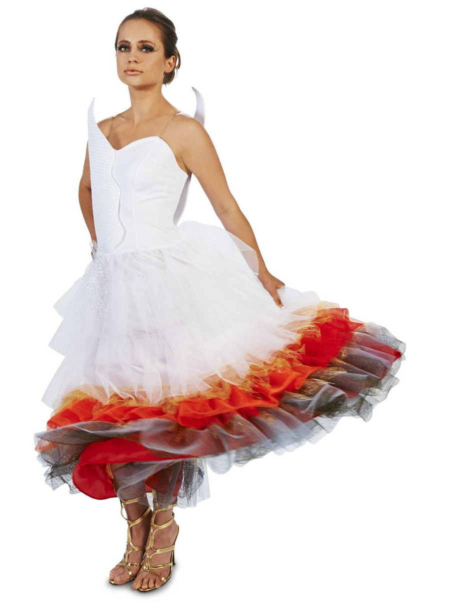 View larger image of Flaming Winged Wedding Dress Adult Costume