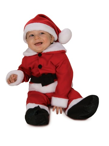 Fleece Classic Santa Romper With Belt