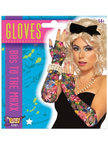 Floral Lace 80s Gloves