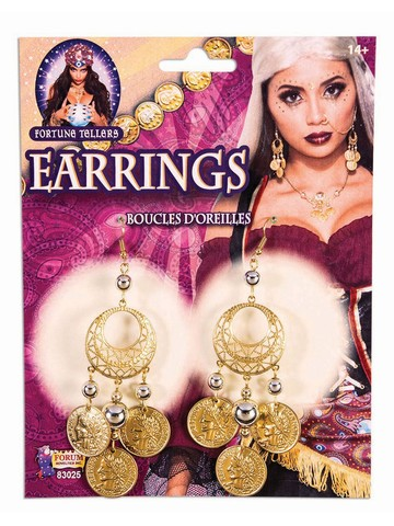 Fortune Teller Gold Coin Earrings