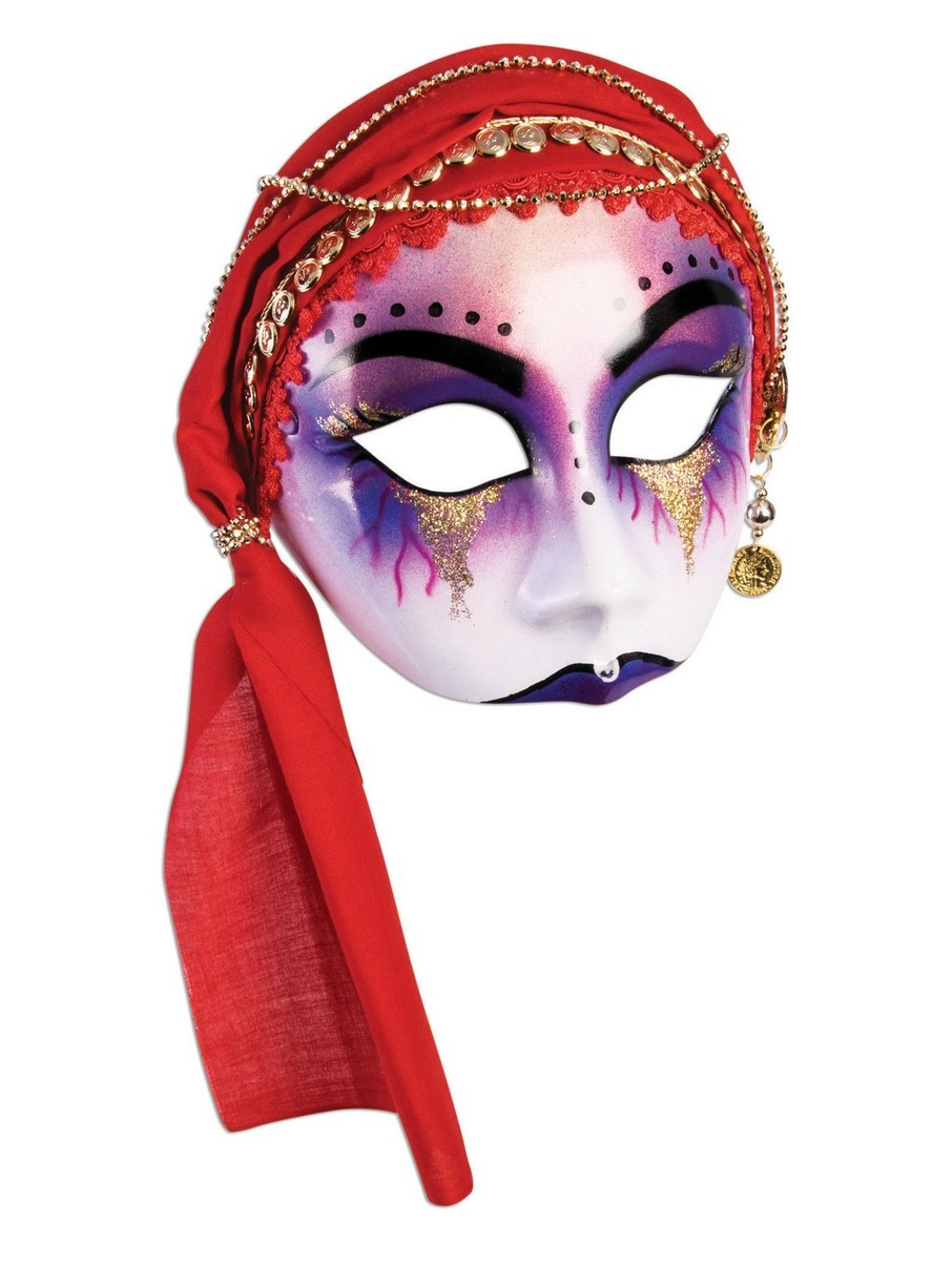 View larger image of Fortune Teller Red Scarf Half Mask