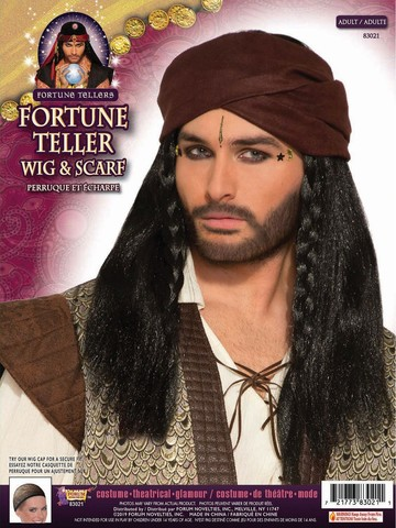 Fortune Teller Wig with Scarf