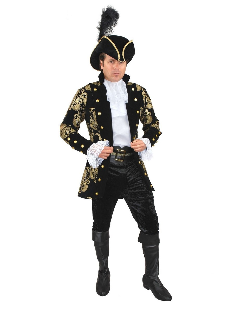 View larger image of Mens French Pirate Captain Plus-Size Jacket (Black)
