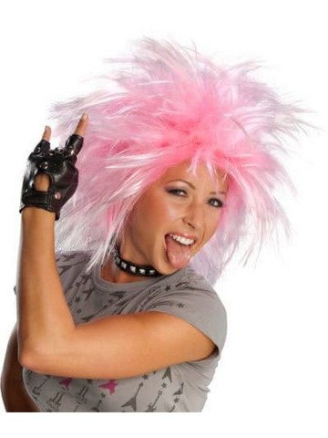 Pink Funk and Punk Wig