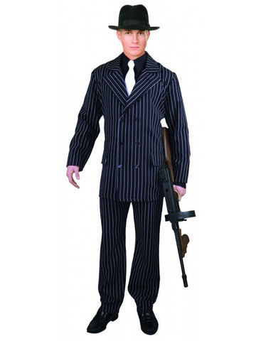Gangster Plus-Size Suit for Men