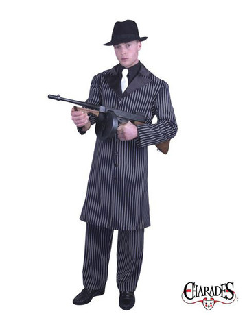 Gangster Suit with Long Jacket Adult Costume