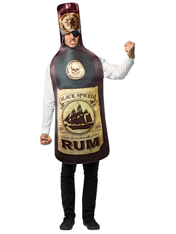 Adult Get Real Rum Bottle Costume